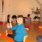 Eine Gruppe Frauen beim Yoga
